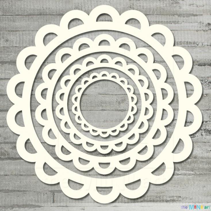 the MiNi art - Cardboard element - Round frames semicircle M