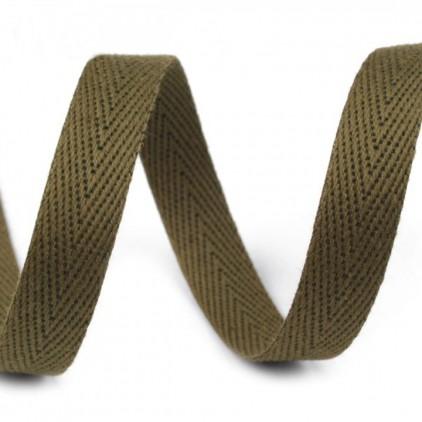Cotton trim - width 1cm - 1 meter - Olive
