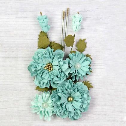 Paper flower set - Little Birdie - Elsie Celeste - 7 flowers