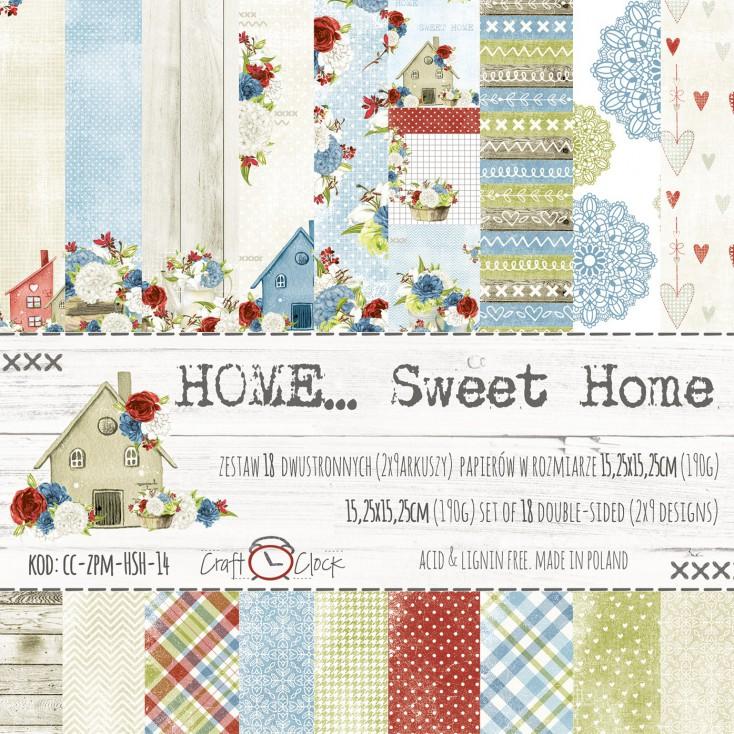 Mały bloczek papierów do tworzenia kartek i scrapbookingu - Craft O Clock - Home... Sweet Home