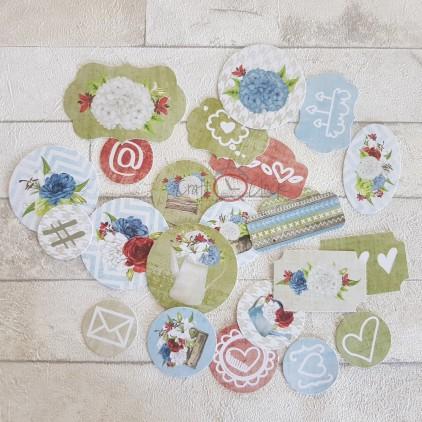 Zestaw ozdobnie wyciętych kształtów - Craft O Clock -Home... Sweet Home