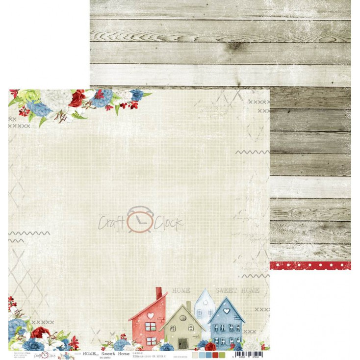 Scrapbooking paper - Craft O Clock - Home... Sweet Home - 06