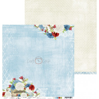 Scrapbooking paper - Craft O Clock - Home... Sweet Home - 02