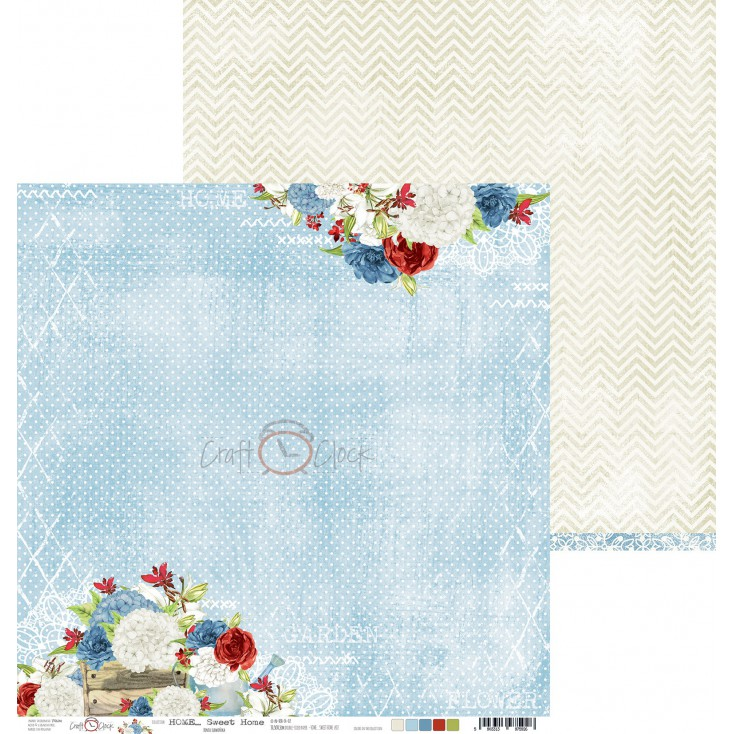 Scrapbooking paper - Craft O Clock - Home... Sweet Home - 05