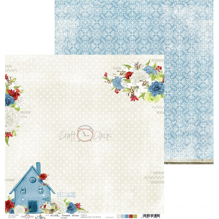 Scrapbooking paper - Craft O Clock - Home... Sweet Home - 04