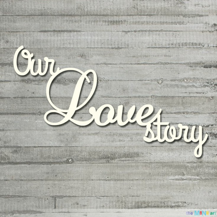 the MiNi art - Cardboard element - Our Love story -me&you
