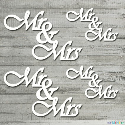 the MiNi art - Cardboard element - mr&mrs - me & you