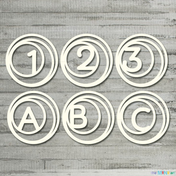 the MiNi art - Cardboard element - Little baby - numbers