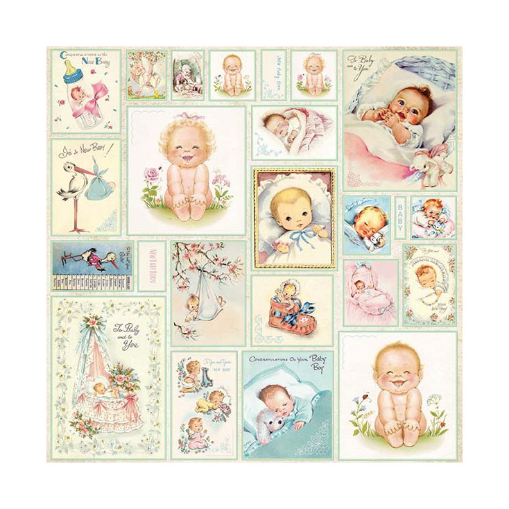 Scrapbooking paper - Craft and You Design - New Baby Born 07
