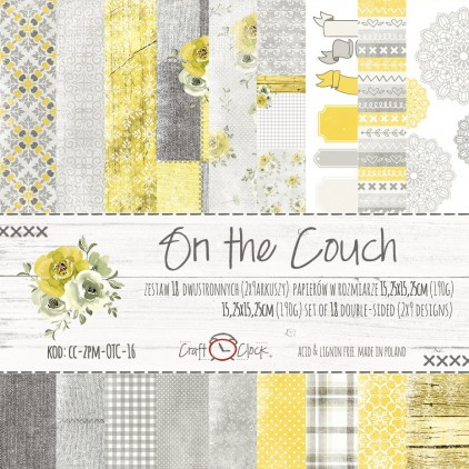 Pad of scrapbooking papers - Craft O Clock - On the couch
