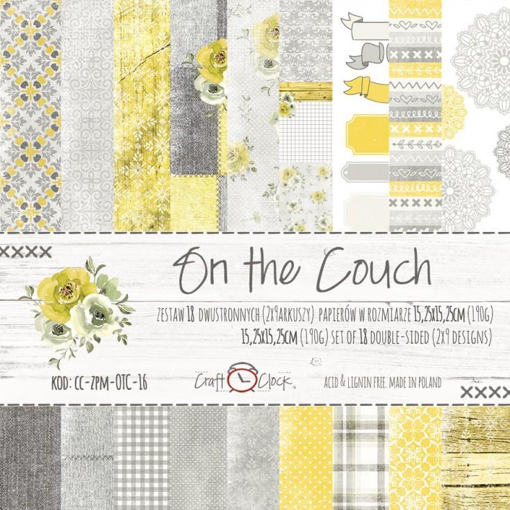 Mały bloczek papierów do tworzenia kartek i scrapbookingu - Craft O Clock - On the couch