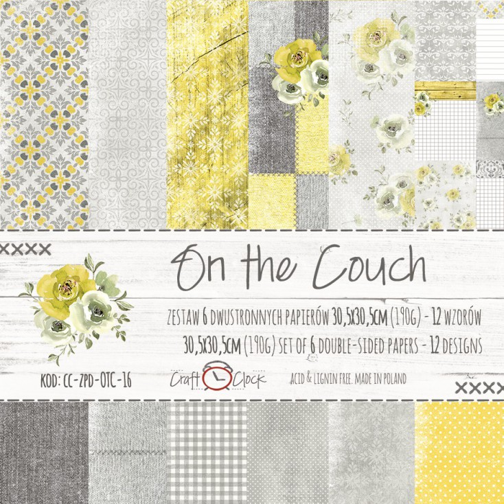 Set of scrapbooking papers - Craft O Clock - On the couch