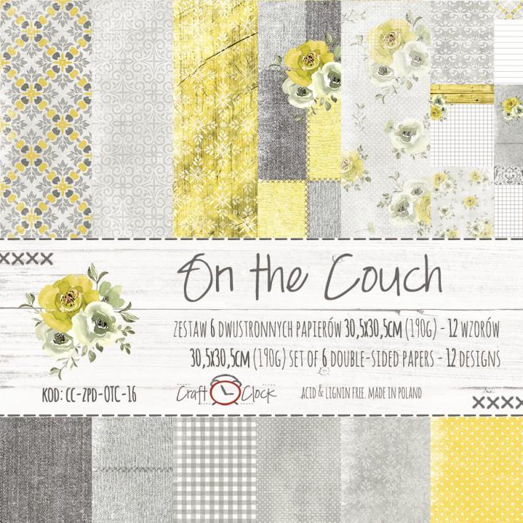 Zestaw papierów do tworzenia kartek i scrapbookingu -Craft O Clock- On the couch