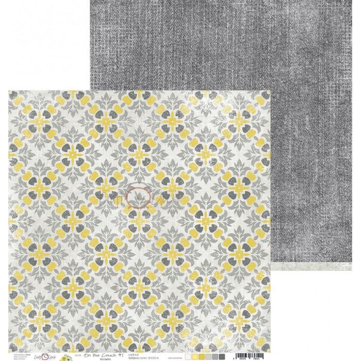 Papier do tworzenia kartek i scrapbookingu - Craft O Clock - On the couch - 01