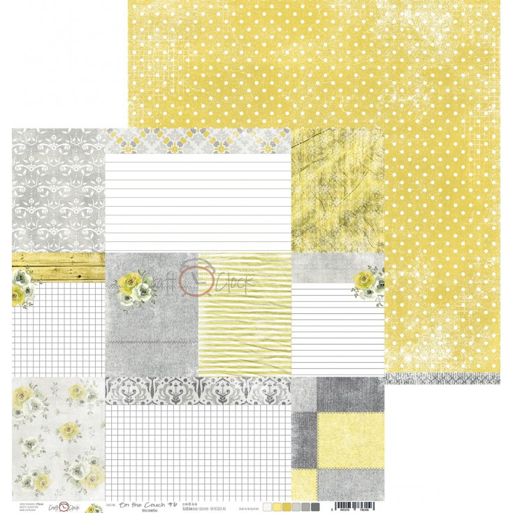 Scrapbooking paper - Craft O Clock - On the couch - 06