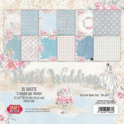 Mały bloczek papierów do scrapbookingu - Craft and You Design - Pastel Wedding