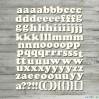 the MiNi art - Cardboard element - Alphabet - lowercase letters