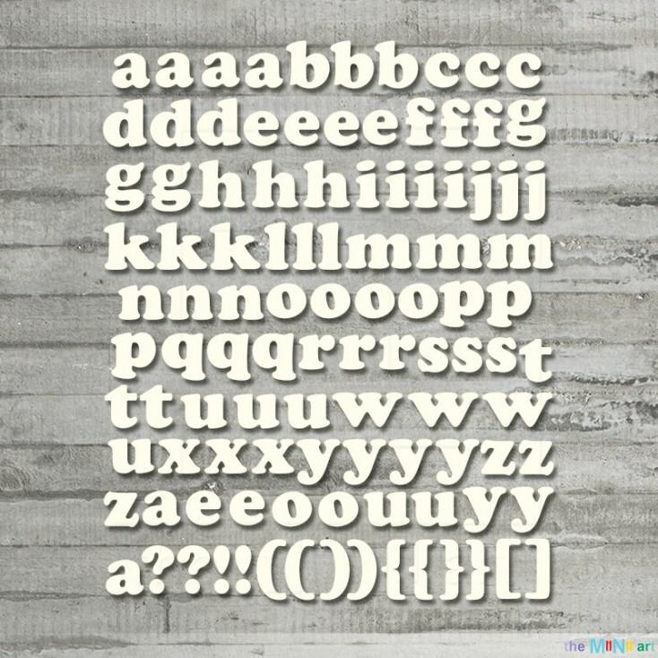 the MiNi art - tekturka - Alfabet - małe literki