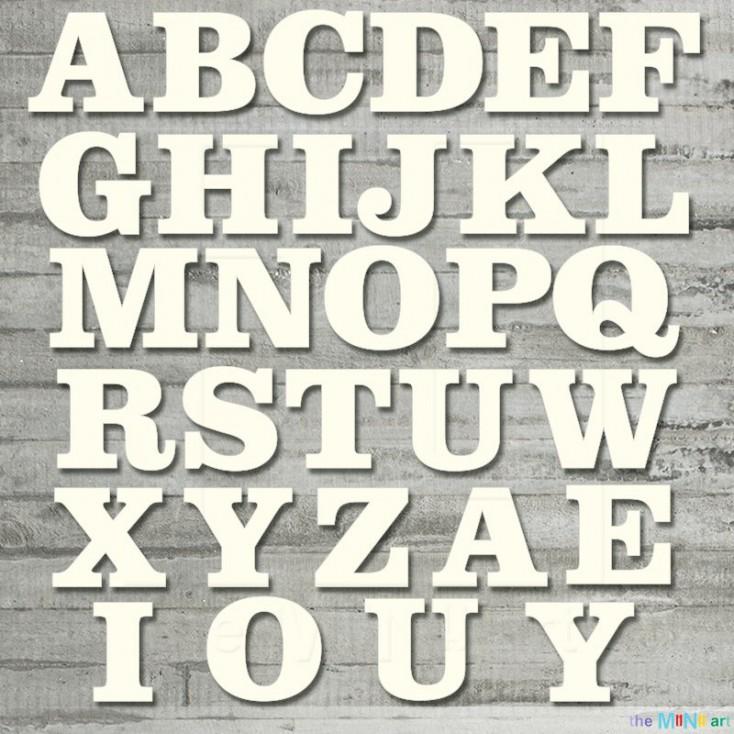the MiNi art - tekturka - Alfabet - duże litery 2