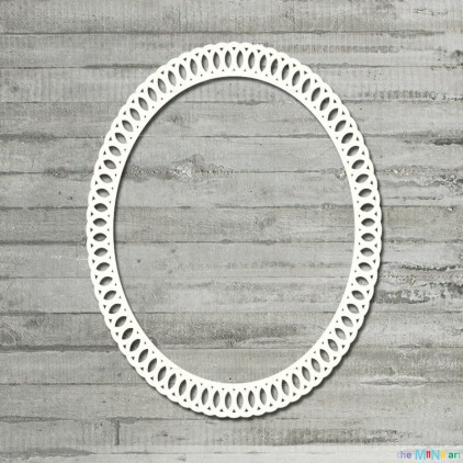 the MiNi art - Cardboard element - Oval lace frame - M