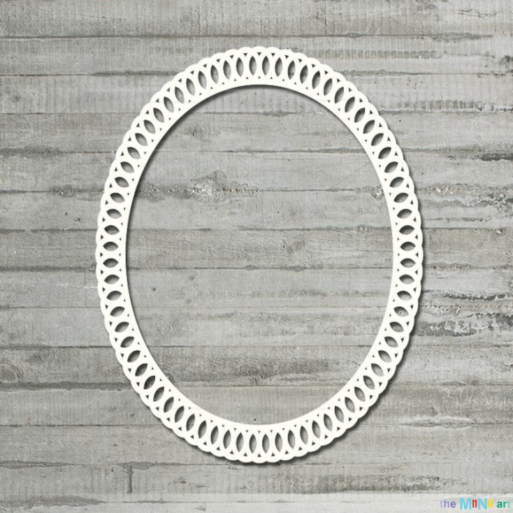 the MiNi art - Cardboard element - Oval lace frame - M