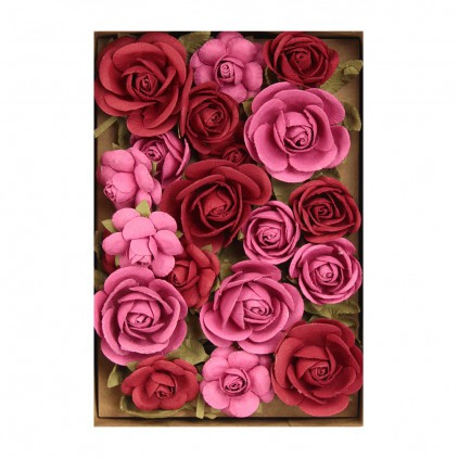 Paper flower set - Little Birdie - Fiona Candy Mix- 28 flowers