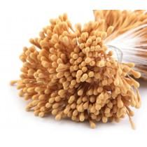 Pręciki do kwiatków - ciemnożółty matowe - pęczek - 2mm