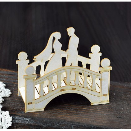 Cardboard cutout - Chipboard - Anemone - Bride and Groom on the bridge 02