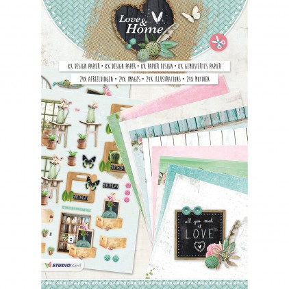 Studio Light - Die cut bloc A4 - Love & Home