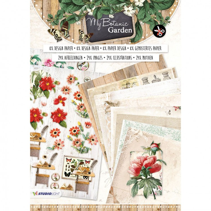 My Botanic Garden - Blok papierów do tworzenia kartek i scrapbookingu - Studio Light