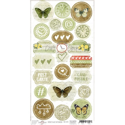 Craft O Clock -Hertage Stories - die-cuts set