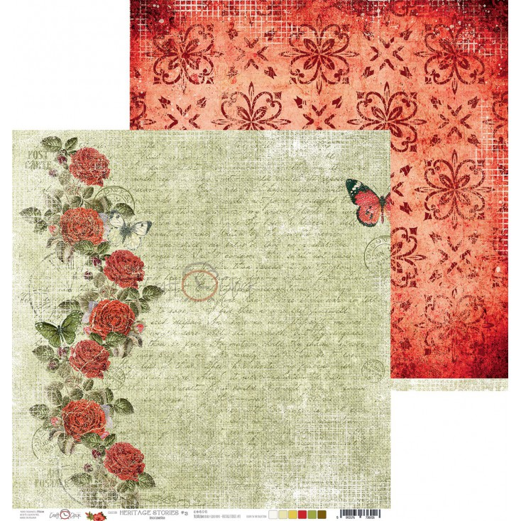 Papier do tworzenia kartek i scrapbookingu - Craft O Clock - Heritage stories - 03