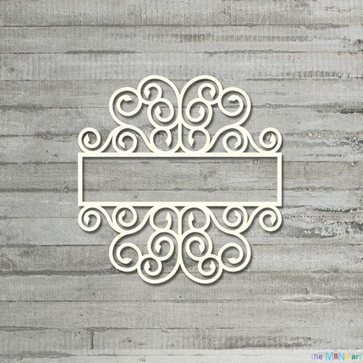 the MiNi art - Cardboard element - Magic Garden - rectangular frame S