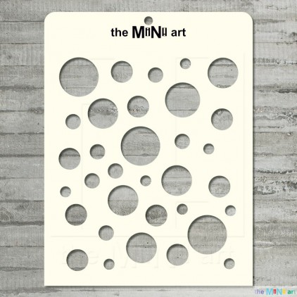 the MiNi art - Mask, stencil - circles