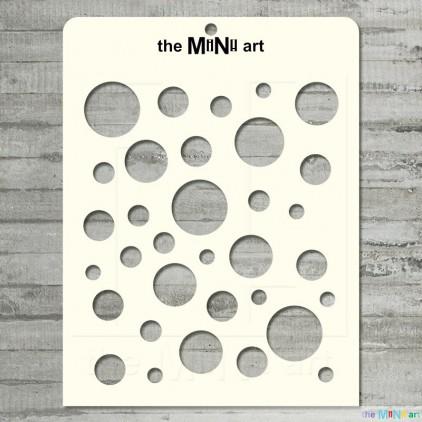 the MiNi art - Maska, szablon - koła