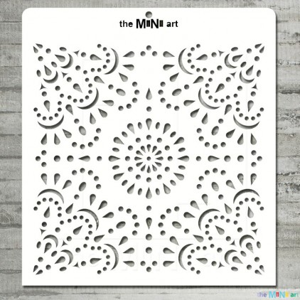 the MiNi art - Maska, szablon - koronka M