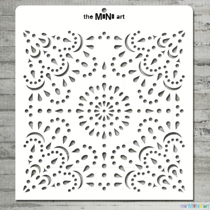 the MiNi art - Maska, szablon - koronka M