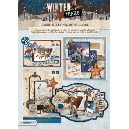 Blok papierów do tworzenia kartek i scrapbookingu - Studio Light - Winter Trails - Die Cut Block