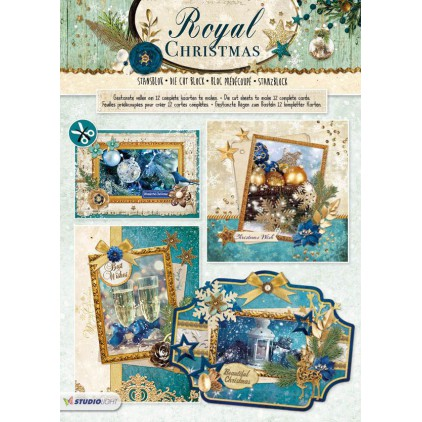 Scrapbooking paper pad - Studio Light - Royal Christmas 02 - Die Cut Block
