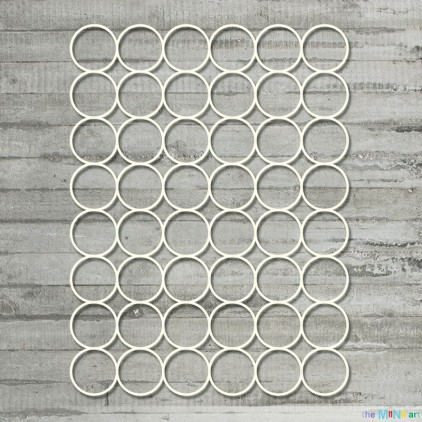 the MiNi art - Cardboard element - Background large circles