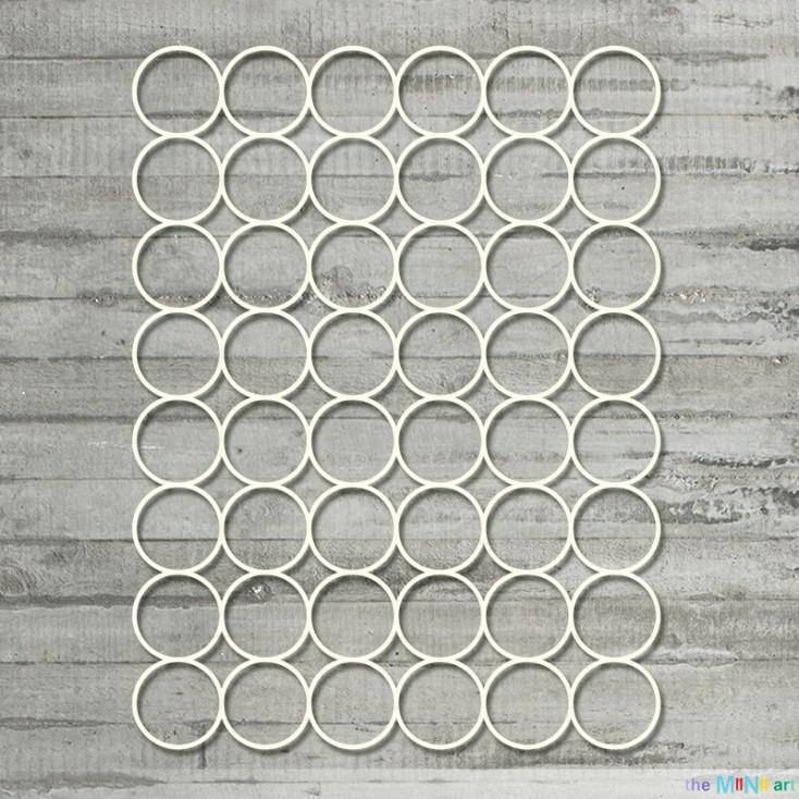 the MiNi art - Cardboard element - Background large circles