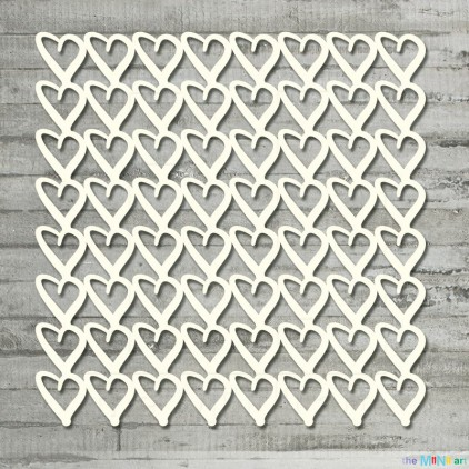 the MiNi art - Cardboard element  - Background - hearts