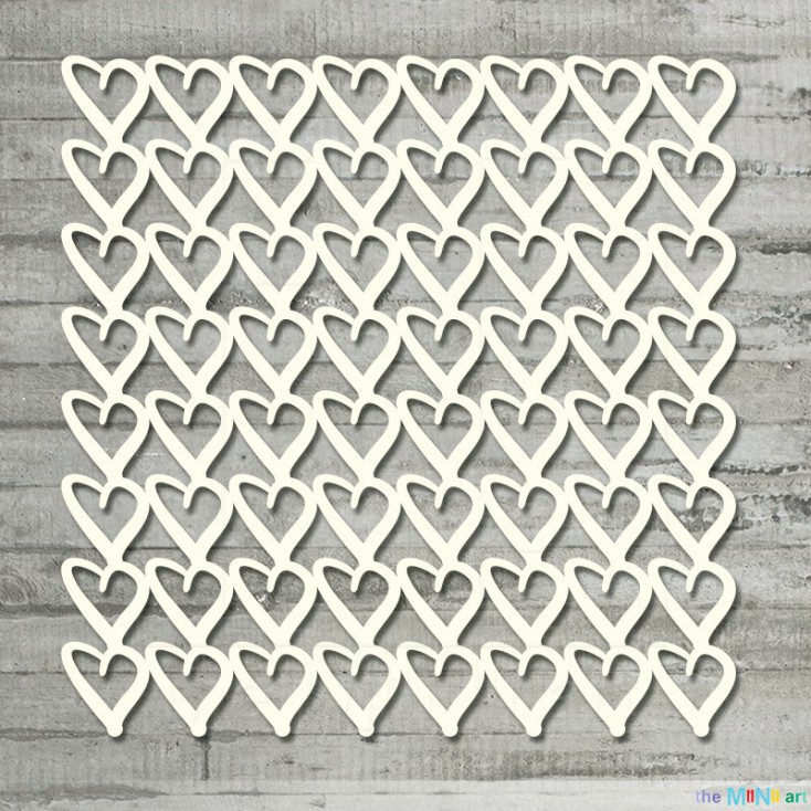 the MiNi art - Cardboard element - Background - hearts