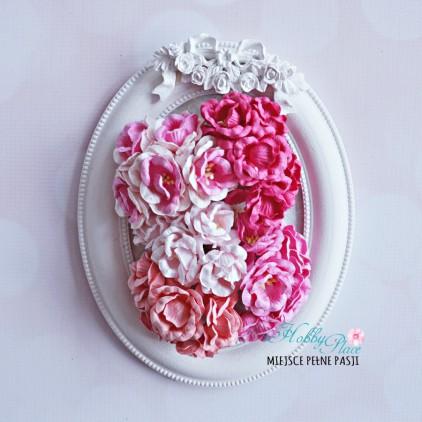 Peony flower set - mix of pink - 25 pcs