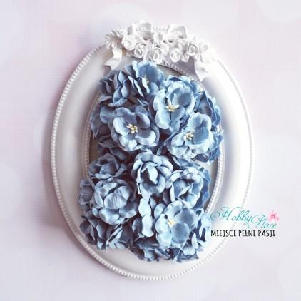 Peony flower set - blue - 25 pcs