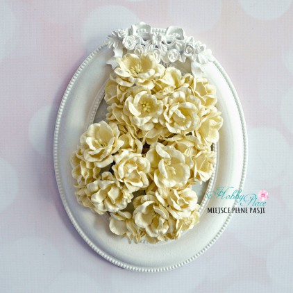 Peony flower set - vanilla - 25 pcs