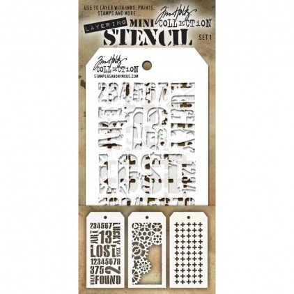 Tim Holtz Collection - Mask, stencil, template - Set 1