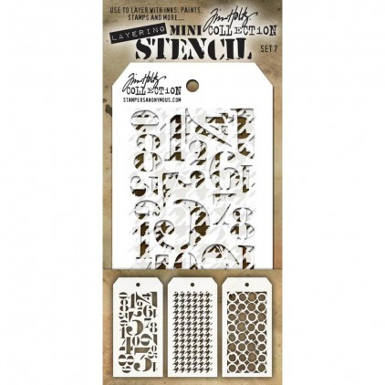 Tim Holtz Collection - Mask, stencil, template - Set 7
