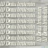 the MiNi art - Cardboard element - set of subtitles W Dniu Imienin