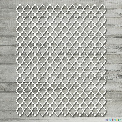 the MiNi art - Cardboard element  - Background Moroccan clover M